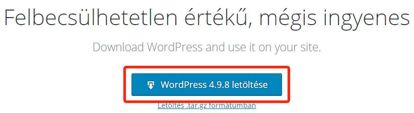 WordPress letöltése - WPStart.hu