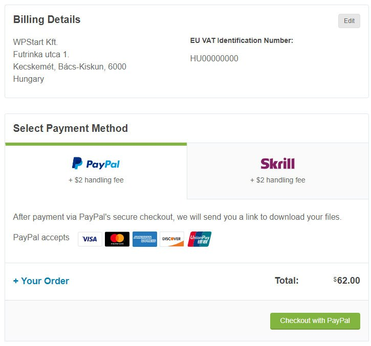 Avada fizetés - WordPress kezdőknek