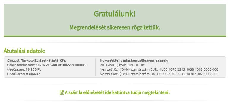 Sikeres regisztráció | WPStart.hu