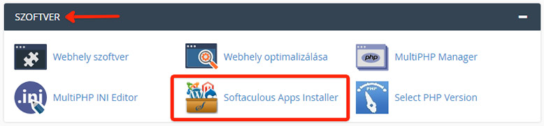 Softaculous App Installer | WordPress telepítése