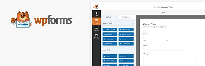 WPForms Lite - WordPress kapcsolat űrlap bővítmény