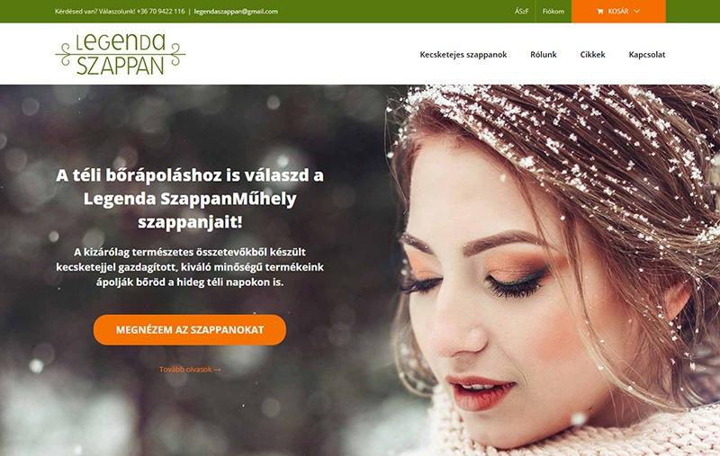Legenda Szappan web design