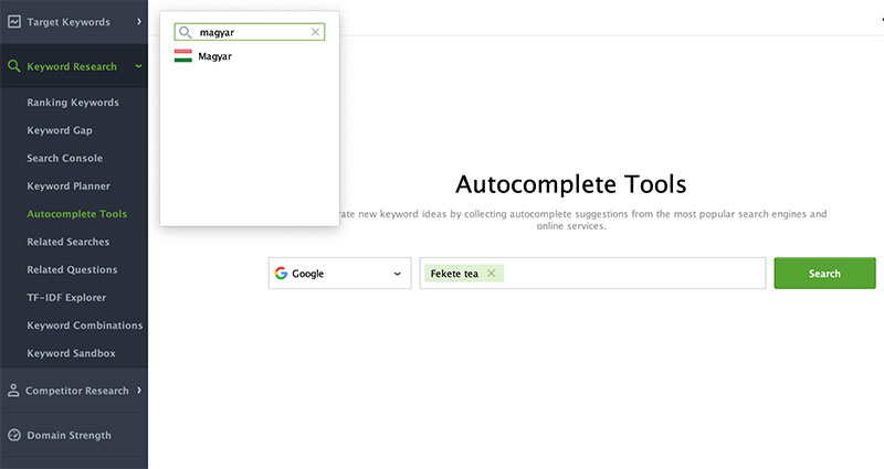 Rank Tracker - Autocomplete Tools